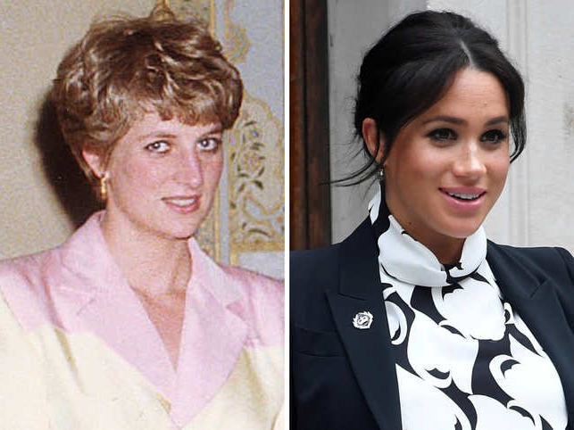 Is History Repeating Itself? Meghan Markle May Be Facing A Similar Throughout Princess Like Side Prom Downdos (View 10 of 25)