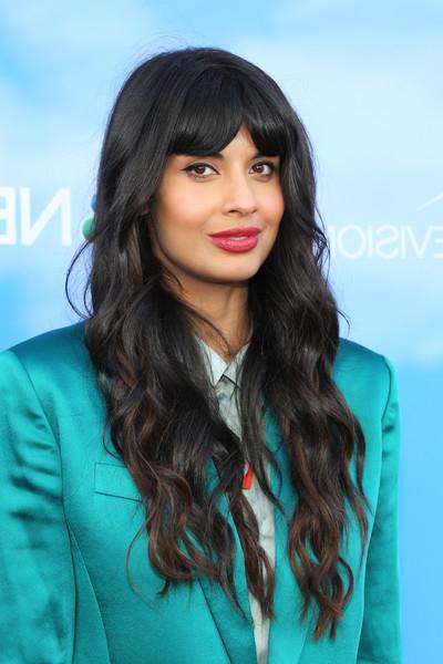 Jameela Jamil Long Wavy Cut With Bangs - Long Hairstyles Lookbook regarding Long Hairstyles With Long Bangs