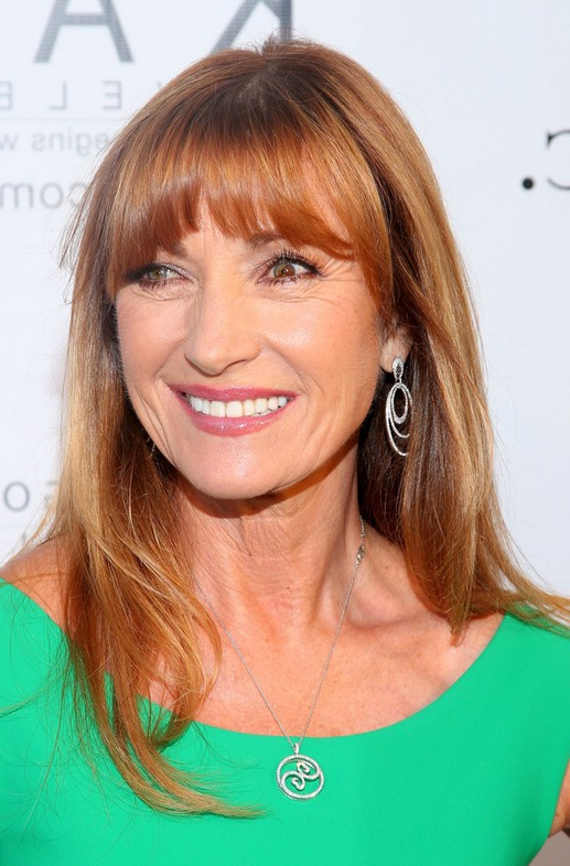 Jane Seymour Long Straight Hairstyle With Bangs For Women Over 60 Inside Long Hairstyles Over (View 15 of 25)