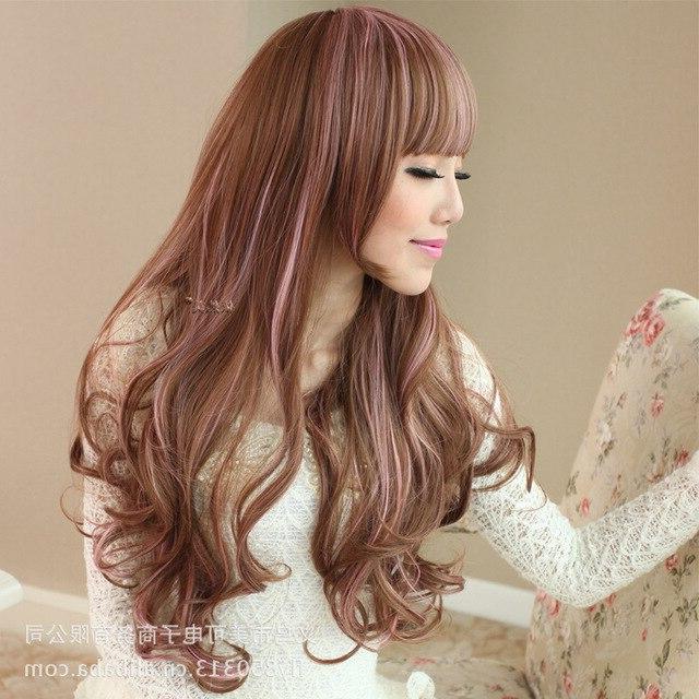 Japanese Anime Original Color Streaked Long Hair Wig Nature Long inside Japanese Long Hairstyles