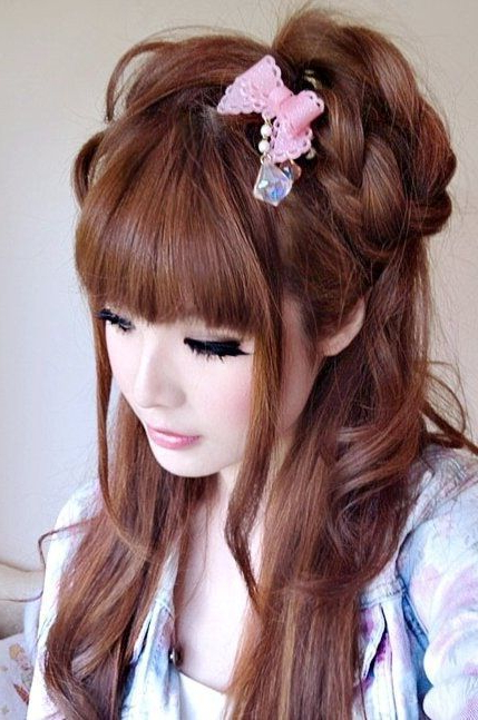 Japanese Long Hairstyles Updo - Google Search … | Japan | Gyaru… with regard to Japanese Long Hairstyles