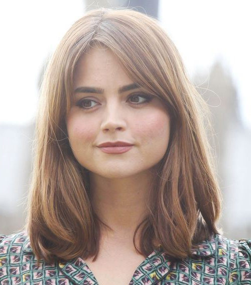 Jenna Coleman Hairstyles For A Wide Round Face | Cinefog With Regard To Long Hairstyles For Round Chubby Faces (View 4 of 25)