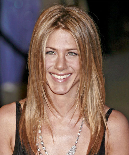 Jennifer Aniston Casual Long Straight Hairstyle - Light Copper with regard to Jennifer Aniston Long Haircuts