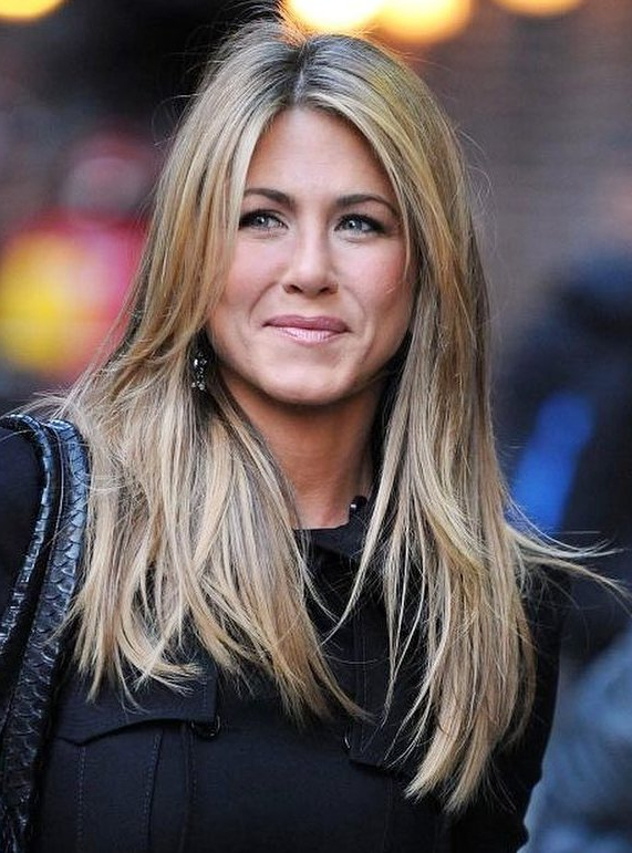 Jennifer Aniston Hairstyles Through The Years Intended For Long Layered Hairstyles Jennifer Aniston (View 9 of 25)