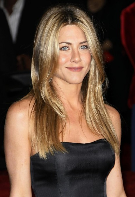 Jennifer Aniston Long Straight Center Part Hairstyle - Hairstyles Weekly intended for Jennifer Aniston Long Hairstyles