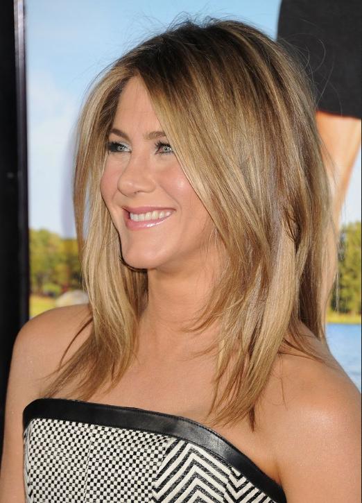Jennifer Aniston Medium Jagged Hairstyle For Straight Hair - Popular regarding Jennifer Aniston Long Haircuts