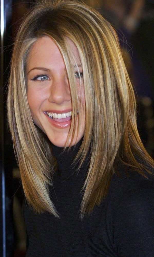 Jennifer Aniston With Layered Hairstyle | Great Hair | Schouderlang with regard to Jennifer Aniston Long Haircuts