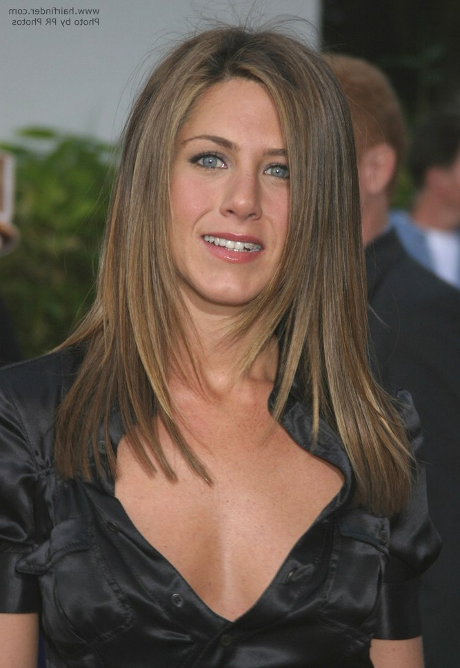 Jennifer Aniston's Hair Cut In Long Layers With Angles Along The Sides with Jennifer Aniston Long Haircuts