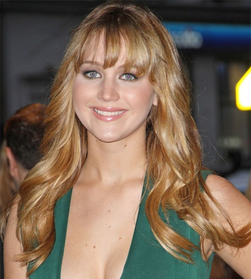 Jennifer Lawrence Long Wavy Hairstyle - Party, Everyday in Jennifer Lawrence Long Hairstyles