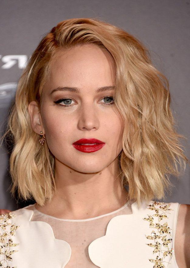 Jennifer Lawrence's Bob Hairstyles - Hair World Magazine inside Jennifer Lawrence Long Hairstyles