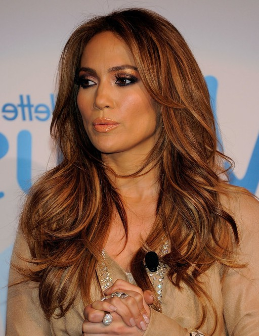 Jennifer Lopez Hairstyles: Long Layered Hairstyle - Popular Haircuts throughout Long Hairstyles Jennifer Lopez