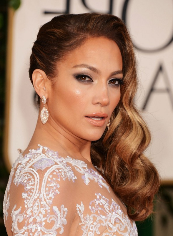 Jennifer Lopez Highlighted Retro Wavy Hairstyle For Long Hair Inside Long Hairstyles Retro (View 7 of 25)