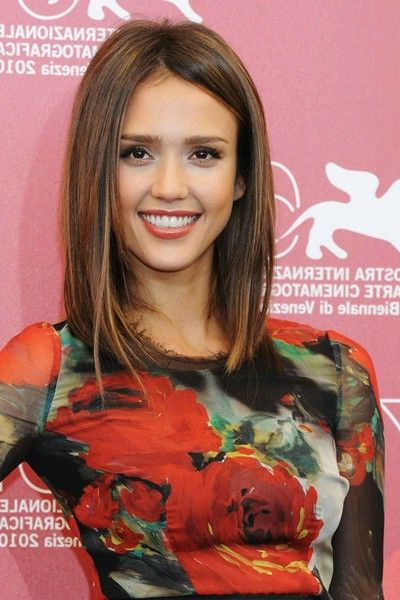 Jessica Alba Long Bob Hairstyle intended for Jessica Alba Long Hairstyles