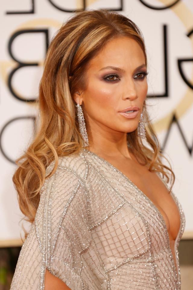 Jlo Knows How To Work A Red Carpet, And Her Look At The Golden In Long Hairstyles Red Carpet (View 8 of 25)