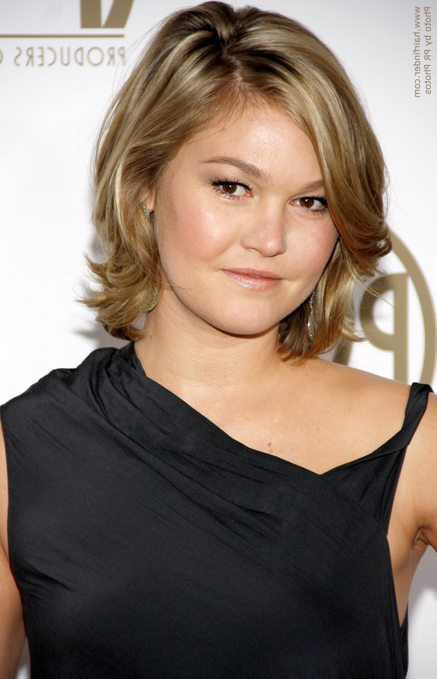 Julia Stiles | Neck Length Hairstyle With A Long Fringe, Waves And A With Regard To Neck Long Hairstyles (View 9 of 25)
