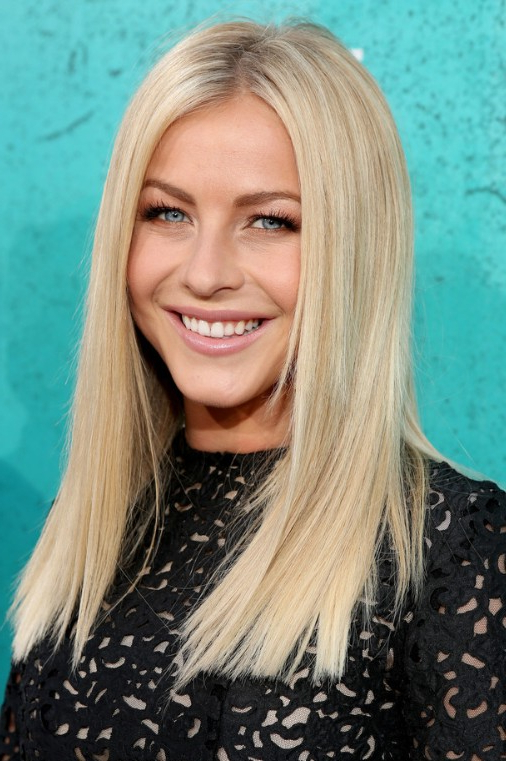 Julianne Hough Blonde Medium Straight Hairstyle - Popular Haircuts for Julianne Hough Long Hairstyles