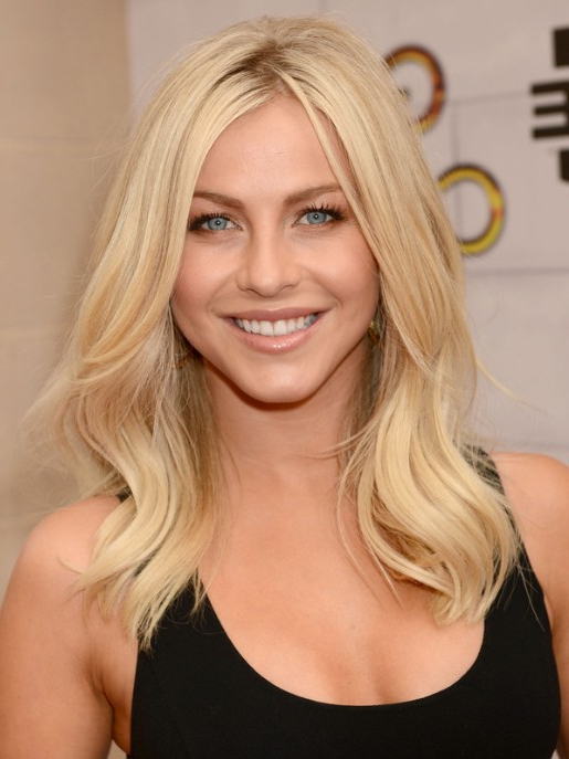 Julianne Hough Blonde Medium Wavy Hairstyle For Layers - Popular throughout Julianne Hough Long Hairstyles