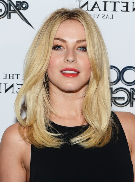 Julianne Hough Blunt Medium Straight Hairstyle - Popular Haircuts with regard to Julianne Hough Long Hairstyles