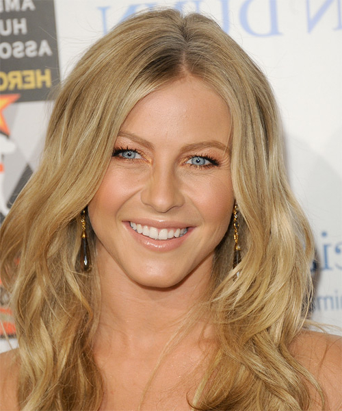 Julianne Hough Casual Long Wavy Hairstyle - Honey Blonde Hair Color intended for Julianne Hough Long Hairstyles