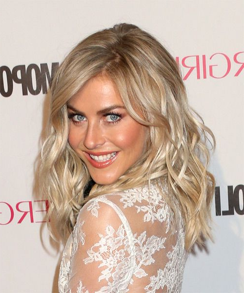 Julianne Hough Long Wavy Formal Hairstyle With Side Swept Bangs within Julianne Hough Long Hairstyles