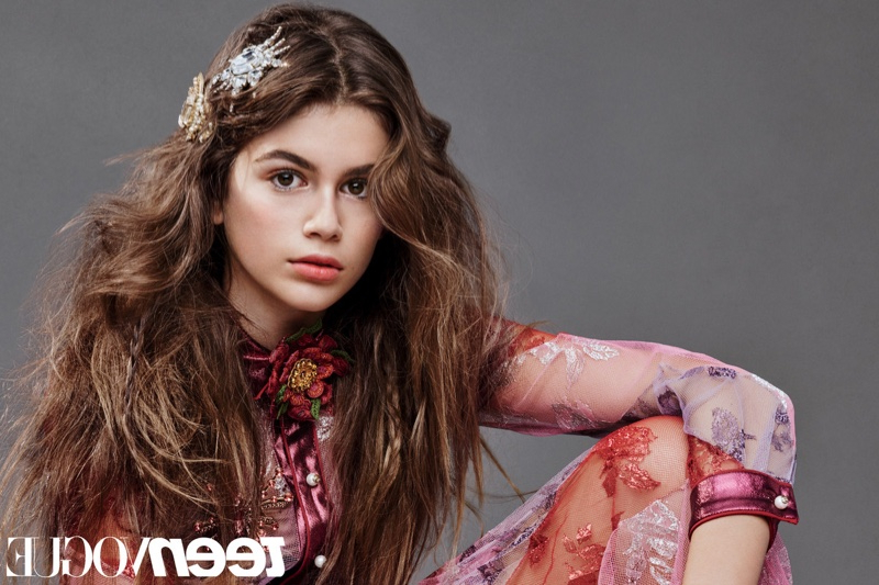 Kaia Gerber Teen Vogue December 2015 Hairstyles Shoot | Fashion Gone Throughout Long Hairstyles Vogue (View 17 of 25)