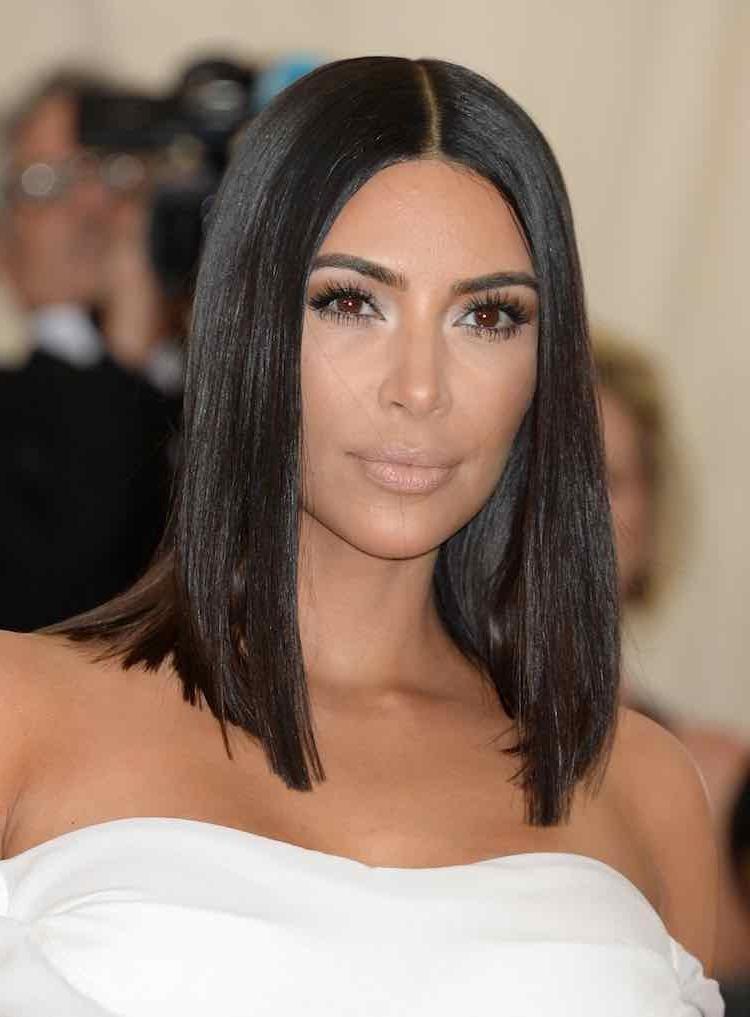 Kardashian Family Inspired Hairstyles & How Achieve Them! Within Long Bob Hairstyles Kim Kardashian (View 16 of 25)
