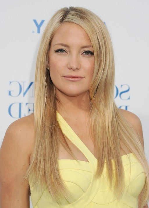 Kate Hudson Smooth Straight Hairstyles – Popular Haircuts Throughout Long Straight Hairstyles Without Bangs (View 12 of 25)