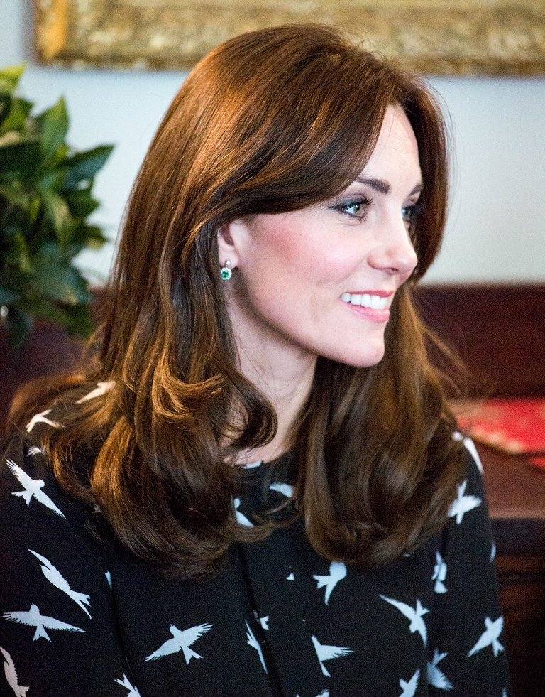 Kate Middleton Makes A Surprise Appearance, Debuting A New Hairstyle Regarding Long Hairstyles Kate Middleton (View 19 of 25)