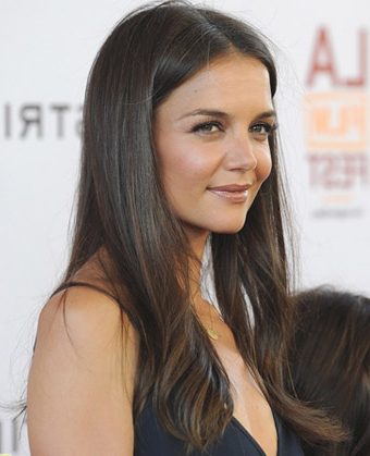 Katie Holmes' Long Straight Hairstyle With Regard To Katie Holmes Long Hairstyles (View 6 of 25)