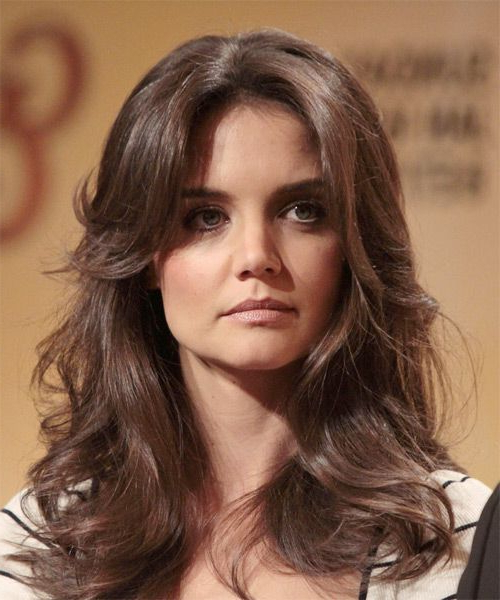 Katie Holmes Long Wavy Formal Hairstyle – Mocha Hair Color | I Want For Katie Holmes Long Hairstyles (View 16 of 25)