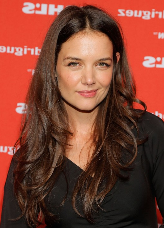 Katie Holmes Tousled Layered Hairstyle – Popular Haircuts Inside Katie Holmes Long Hairstyles (View 9 of 25)