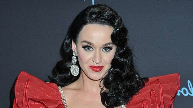 Katy Perry Rocks Long Black Hair And Old Hollywood Curls | Allure With Katy Perry Long Hairstyles (View 20 of 25)