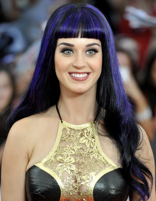 Katy Perry Trendy Violet Long Hairstyle – Popular Haircuts Within Katy Perry Long Hairstyles (View 10 of 25)