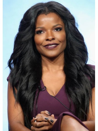 Keesha Sharp Long Hairstyles Feathered Flip Wig, African American Inside Layered With A Flip For Long Hairstyles (View 16 of 25)