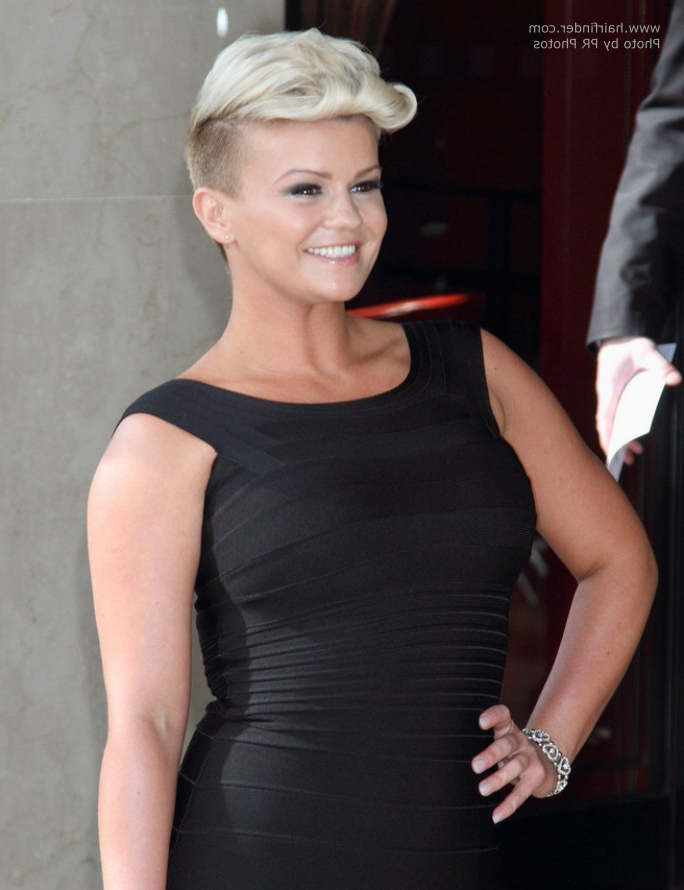 Kerry Katona | Dramatic Short Haircut With Shaved Sides And A Pertaining To Shaved Side Prom Hairstyles (View 21 of 25)