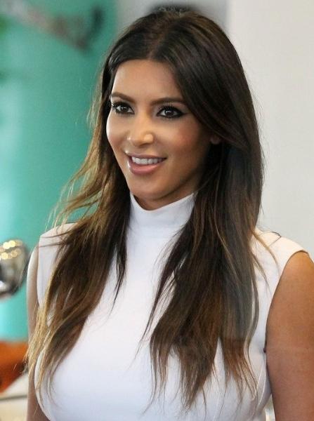 Kim Kardashian Casual Brown Long Haircuts – Popular Haircuts Throughout Kim Kardashian Long Haircuts (View 4 of 25)
