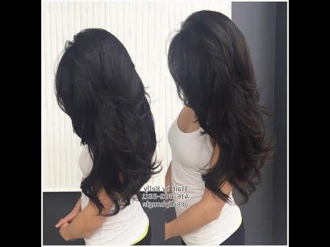 Kim Kardashian Hairstyle Haircut – Youtube Throughout Long Layered Hairstyles Kim Kardashian (View 21 of 25)