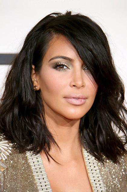 Kim Kardashian Inspired Brazilian Virgin Hair Wavy Bob Cut Lace Wig In Long Bob Hairstyles Kim Kardashian (View 9 of 25)
