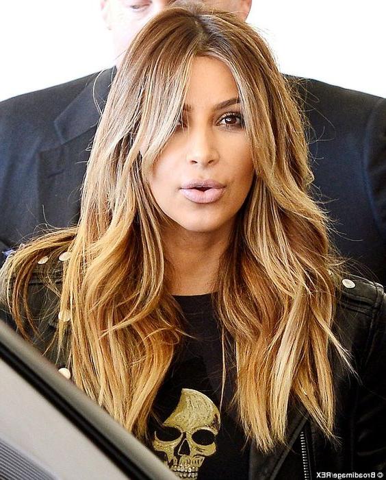 Kim Kardashian Layered Hair With Long Layered Hairstyles Kim Kardashian (View 12 of 25)