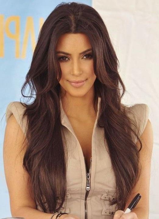 Featured Photo of Long Hairstyles Kim Kardashian