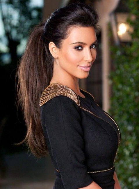 Kim Kardashian Long Hairstyles: High Ponytail Hairstyle | Kardashian Within Kim Kardashian Long Hairstyles (View 20 of 25)