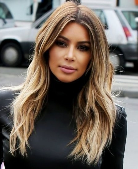 Kim Kardashian Long Layered Hairstyles Layered Hairstyles Long Kim With Kim Kardashian Long Haircuts (View 13 of 25)