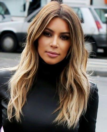 Featured Photo of Long Layered Hairstyles Kim Kardashian