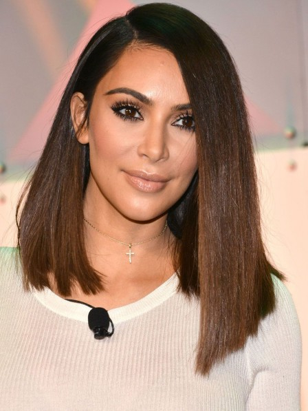 Kim Kardashian Long Straight Bob Style Wig – Rewigs.co (View 7 of 25)