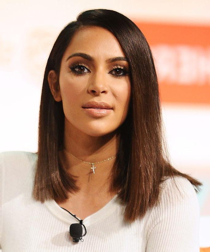 Kim Kardashian Medium Bob Haircut #haircut #kardashian #medium Inside Long Bob Hairstyles Kim Kardashian (View 4 of 25)
