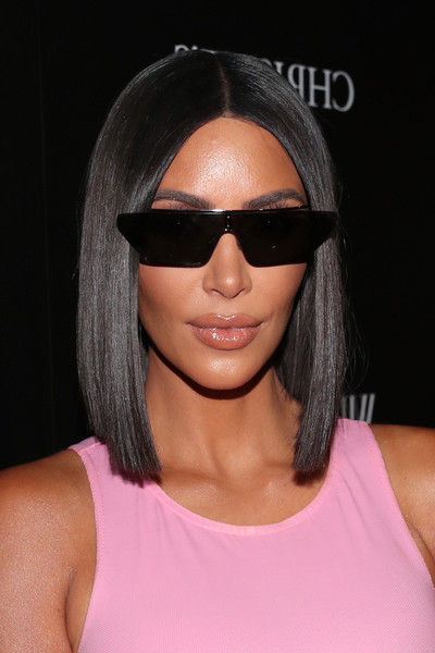 Kim Kardashian Mid Length Bob – Mid Length Bob Lookbook – Stylebistro Within Long Bob Hairstyles Kim Kardashian (View 19 of 25)