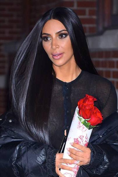 Kim Kardashian New Hair: Short Hairstyle | Glamour Uk In Long Hairstyles Kim Kardashian (View 19 of 25)