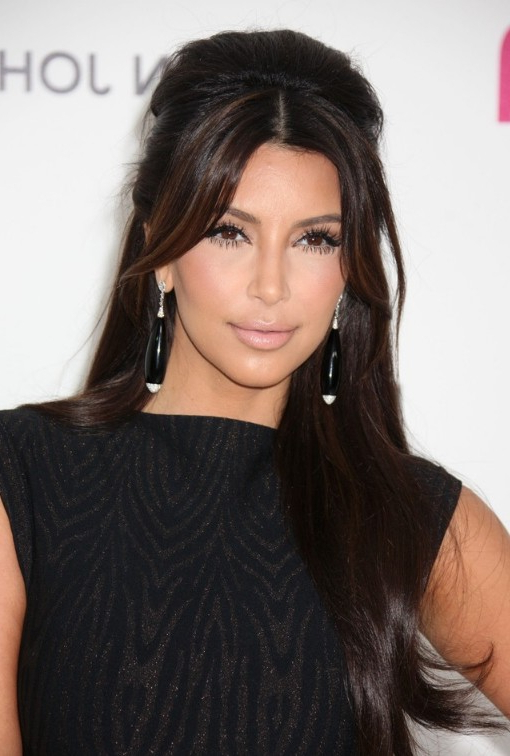 Kim Kardashian Shiny Long Hairstyles – Hairstyles Weekly For Kim Kardashian Long Hairstyles (View 10 of 25)