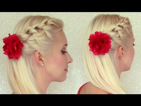 Knotted Headband Braid Tutorial Braided Hairstyle For Medium Long For Half Prom Updos With Bangs And Braided Headband (View 23 of 25)