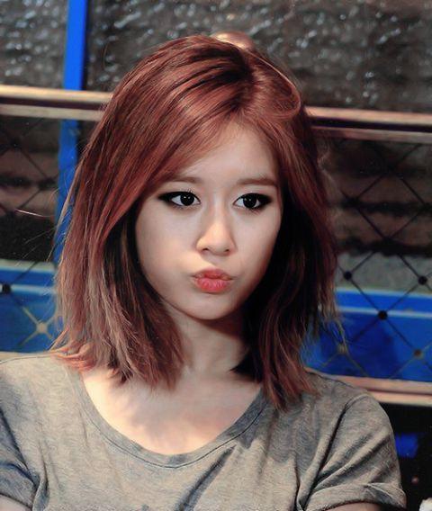 Korea Korean Kpop Idol Girl Group Band Tara T Ara Jiyeon's Lob With Regard To Long Bob Hairstyles Korean (View 19 of 25)